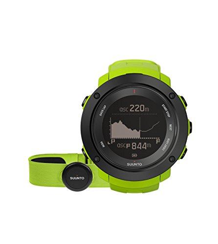 Suunto - Ambit3 Vertical HR - SS021970000 - Reloj GPS Multideporte + Cinturón de frecuencia cardiaca (Talla M) - Ideal para montaña - Verde lima