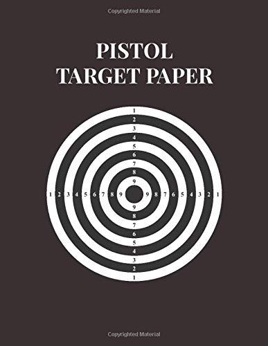 Pistol Target Paper: Perfect for Gun Rifle Pistol Airsoft BB Gun Pellet Gun Air Rifle or Training Bullseye Archery