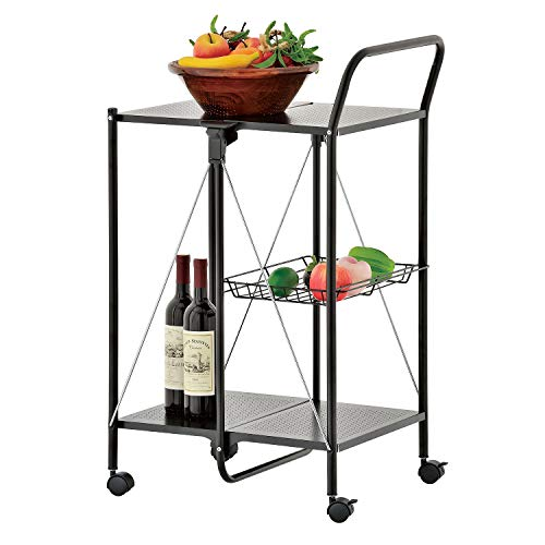 IndoorOutdoor Kitchen and Utility Trolley,Multi-Purpose Foldable Utility Cart,Collapsible Table Serving