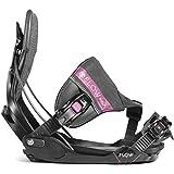 flow Wm's Minx Hybrid - Fijaciones de snowboard para mujer, talla L, color negro
