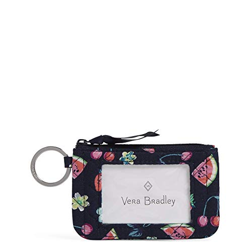 Vera Bradley Women#039s Wallet Signature Cotton Zip ID Case Fruit Grove One Size