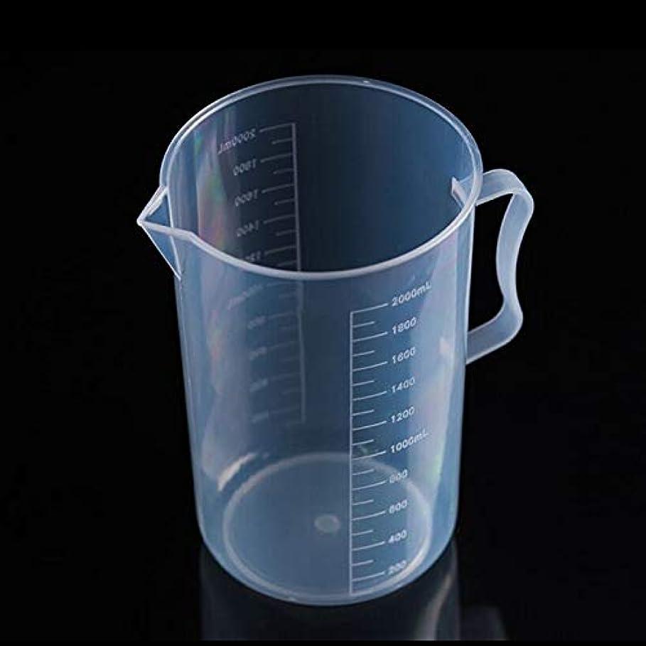 放射する植生くそーキッチンツールセット実験器具 透明カップ研究所ツールを測定PPプラスチックフラスコデジタル(2000ミリリットル) (Color : Transparent)