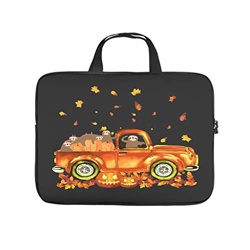 Laptop Bag Sloth Pumkin Car Autumn Halloween Wear-resistant Slim -HalloweenComputer Sleeve Cover Compatible with 13-15.6 inch MacBook Pro white 10 zoll