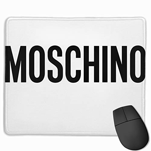Ruihgk Moschino Logo Customized Mousepad Non-Slip Mouse Pads for Computers Laptop Office Hemmed Mouse Pad