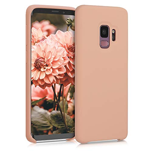 kwmobile TPU Silicone Case Compatible with Samsung Galaxy S9 - Case Slim Protective Phone Cover with Soft Finish - Peach