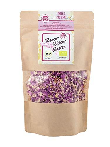 direct&friendly Premium Bio Rosenblüten Tee Rosenblütenblätter getrocknet Essblüten (50 gr)