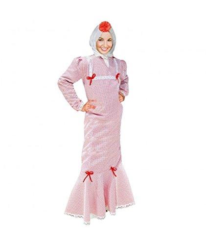 Disfraz Chulapa Mujer Blanco Lunar Rojo (M)