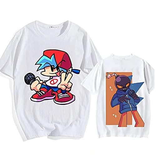 better daily life Friday Night Funkin camiseta juego de dibujos animados hombres mujeres jóvenes impresión 2D Streetwear moda camiseta