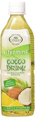 L'Angelica VIT Cocco Drink Ananas - 4 pezzi da 500 ml [2 l]