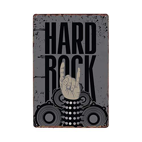 ayingzhenxiao Retro Guitar Rock Music Cartel de Chapa Bar Decoración para el hogar Cartel de Metal 981812