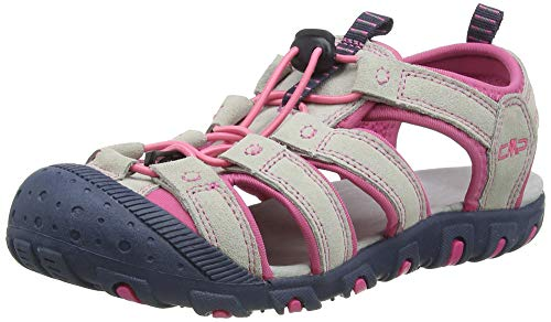 CMP – F.lli Campagnolo Kids Sahiph Leather Hiking Sandal, Sandalias de Senderismo Unisex niños, Pink Glacier U442, 33 EU