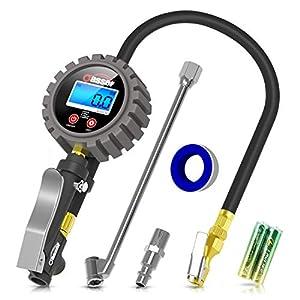 41adkl3p3eL. SS300  - Oasser Manómetro Presión Neumáticos Digital 0-18bar Manómetro Inflador Neumáticos para Compresor Medidor Presión…