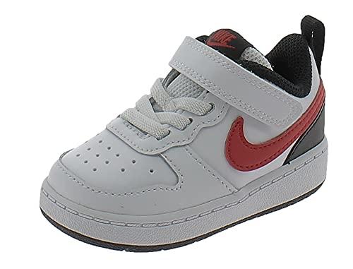 Nike Scarpe Sportive Court Borough Low 2 TDV BQ5453110 Bambino Bianche Bianco 22 EU