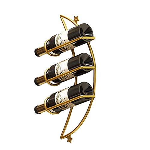 DAGONGREN Estante de Toalla del Vino montado en la Pared, sosteniendo 3 Botellas (Color : D)