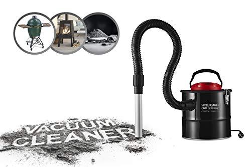 WOLFGANG 800W Aschesauger für Kamin, Grill, Kaminsauger mit HEPA Filter, Handsauger Industrie, 2m Kabel, 1.2m Saugschlauch, 10L Auffangbehälter, Blasfunktion