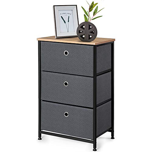 """Camabel 28"""" Vertical Dresser Storage Tower with 3 Drawers Large Capacity Fabric Nightstand Drawer..."""