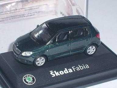 Skoda Fabia ii 2 5 TÜrer Amazonia Green Amazon GrÜn 171abd708hn 1/72 Abrex Modellauto Modell Auto
