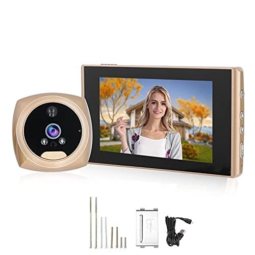 Timbre con video, diseño anti-desmontaje, teléfono con videoportero, timbre granangular de 160 ° HD para seguridad en el hogar