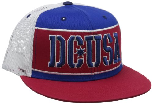 DC RD Bar Stripe Trucker Cap One Size Royal Blue