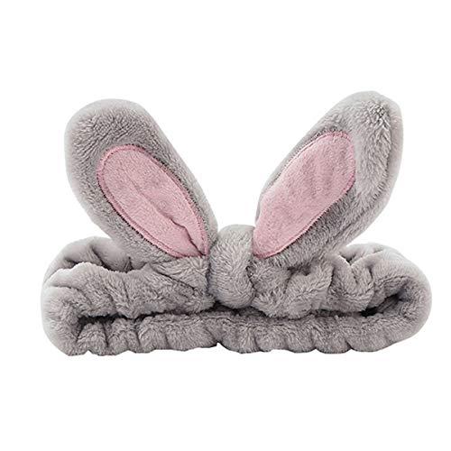 1 Stück Haarband Kosmetik Ohren Rabbit Ohren Makeup Stirnband, Weiches Haarband Korallen Flaumiges Elastisches Haarband Dusche Kosmetik Haarband Flauschiges Süße Turban- haarbänder Kopfbedeckungen