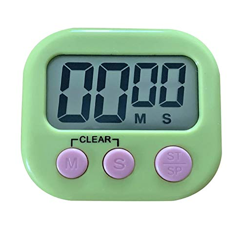 Kitchen Baking Timers Loud Ring Digital Countdown Timers for Cooking Magnetic Green