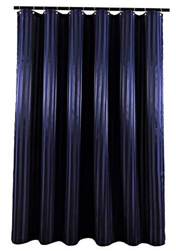 Biscaynebay Textil Duschvorhänge, wasserabweisend, Badezimmer Gardinen 72X84 Navy
