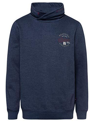 ROADSIGN Australia Herren Sweatshirt mit Schalkragen Navy | M