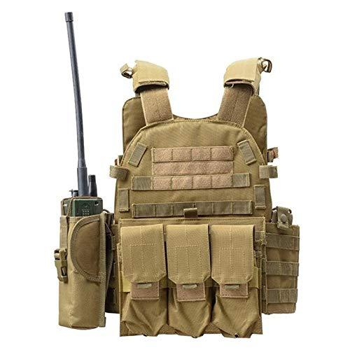 DDSP Vest Magazine Petto Gear Vest Caccia Tattico Accessori Ajustable (Color : Khika)