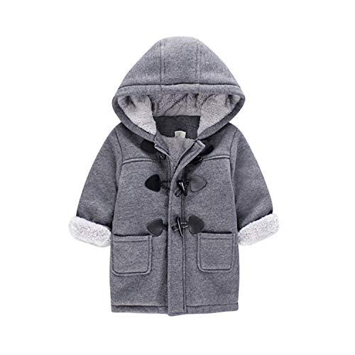 De feuilles Baby Jungen Jacke Winter Mantel Kapuzen Winterjacke Mantel Fleecejacke Mädchen Warm Outwear Trenchcoat