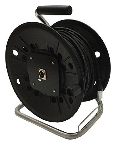 Neutrik CAT5e Leine auf Kunststoff Spule 40m Ethercon Van Damme Kabel 60m