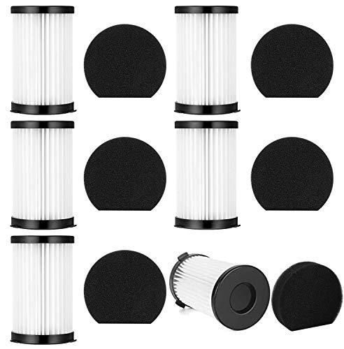 Accessoires pour aspirateur Un set de 12 pièces avec 6 filtres + 6 éponges pour aspirateur Moosoo D600, aspirateur Ariete 2761, modèle XCMS006, filet filtrant, filtre HEPA en coton.