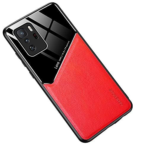 WANGZHEXIA Estuche Protector para Xiaomi. para Xiaomi Redmi Note 10 Pro 5G Cuero Todo Incluido + Funda Protectora de Vidrio orgánico con Chapa de Hierro metálico