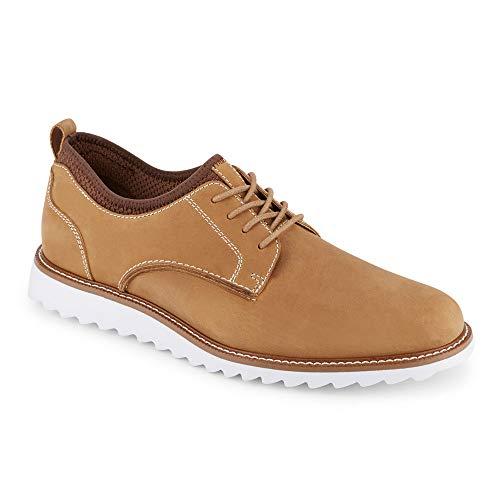 Dockers Mens Fleming Leather Smart Series Dress Casual Oxford Shoe, Tan/Brown, 10 M