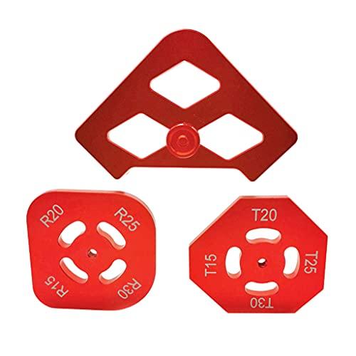Itlovely Quick Jig 2 unids semirredonda radio de esquina plantilla rápida R ángulo localizador aleación de aluminio grabado R10 R15 R20 R30