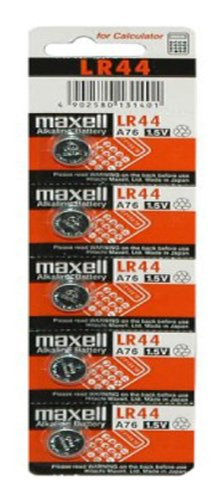 DONDONBCN-10X PILAS MAXELL BOTON BATERIA LR44 LITIO 1.5V LITHIUM BATTERIE