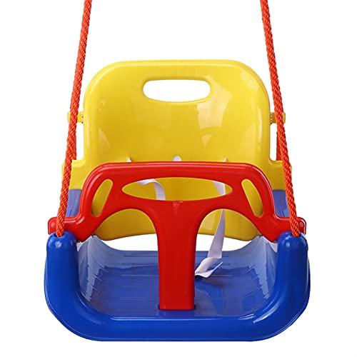 JQDMBH Altalena da Giardino,Altalena 3 in 1 Swing Multifunzionale 3-14 Anni Basket a Sospensione Outdoor Swing Patio Swings Rimovibile (Color : Yellow)