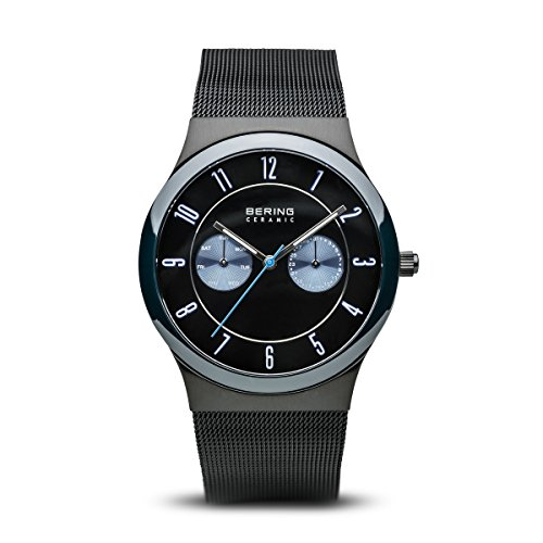 BERING Time 32139-227 Ceramic Collection Watch with Mesh Band and Scratch Resistant Sapphire Crystal. Designed in Denmark.