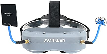 Aomway Commander Goggles V1 FPV 2D 3D 40CH 5.8G Support HD Port DVR Headtracker For RC Drone SINGLE ITEM