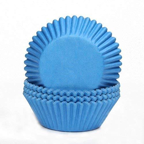 Miss Bakery's House® Papierbackförmchen - Standard - Blau - 75 Stück - zum Mitbacken im Ofen