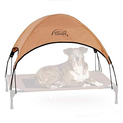 ZUOZUOZUO Pet Camp Bed Vochtdicht Ademend Anti-aanbaklaag Hond Bed Vier Seizoenen Universele Verwijderbare Wasbare Kennel Mat, 56x43x18cm, Brown tent