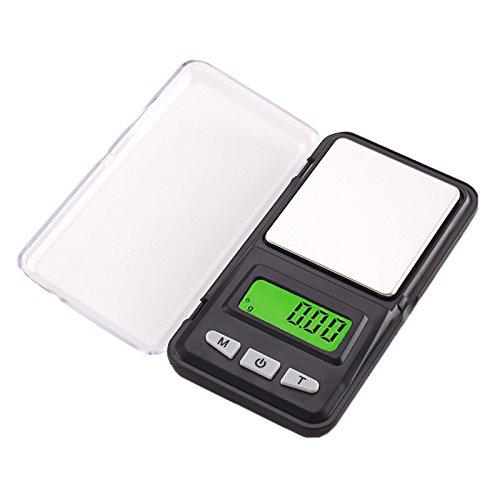 Lzndeal 500 G/0.01g Báscula de bolsillo digital portátil Mini escala joyas escala LCD pantalla para oro cocina grano escala gramo