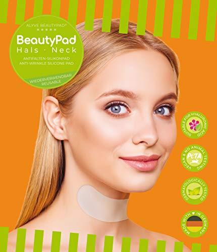 Alyve BeautyPad® Hals Anti Falten Silikon Pad | gegen Falten im Hals Bereich | wirkt schnell, hautfreundlich, wieder verwendbar