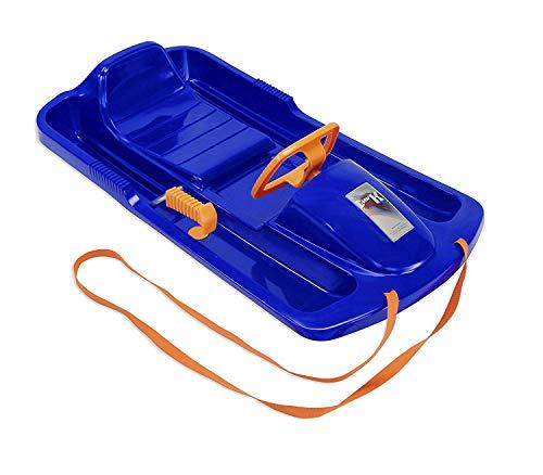Neustanlo Rodel Bob blau/orange Schlitten Schneegleiter Zugseil Lenk- Bremshebel Snow Fox Kunststoff