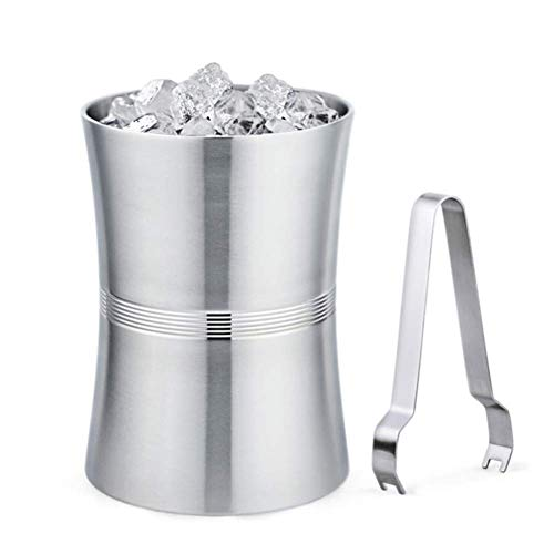 Pkfinrd Ice Bucket, roestvrij staal champagne emmer, drank emmer, bier vat ijshouder voor feest, evenement en verzamelen