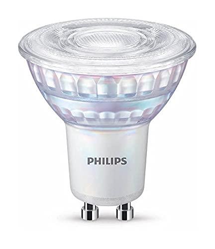 Philips - Bombilla LED cristal 80W GU10 reproducción cromática de 90 luz blanca cálida 36º apertura, regulable