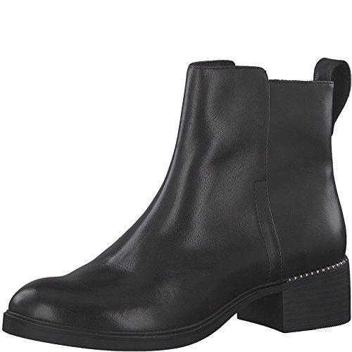 Tamaris Damen Chelsea Boots 25335-21,Frauen Stiefel,Halbstiefel,Stiefelette,Bootie,Reißverschluss,Blockabsatz 4cm,Black,EU 42