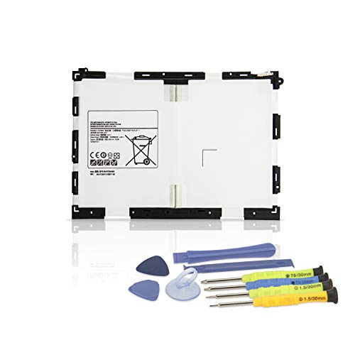 K KYUER 3.8V 22.8Wh 6000mAh EB-BT550ABE Tablet Batteria di Ricambio per Samsung Galaxy Tab A 9.7 SM-T550 SM-P550 SM-T555 SM-P555(3G, 4G/LTE&WiFi) S-Pen Model SM-T555C SM-P351 EB-BT550ABA with Tools