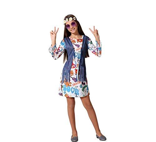 ATOSA disfraz hippie niña multicolor infantil 10 a 12 años