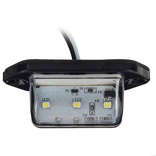 YLG Luz del Coche camión número de Licencia 3 LED Placa de Recogida de Vista Trasera inversa Tag lámpara