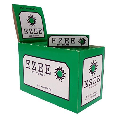 Ezee Zigarettenpapier, grün, 100Heftchen x 50 für insgesamt 5000Zigaretten